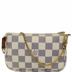LOUIS VUITTON Mini Pochette Damier Azur Pouch